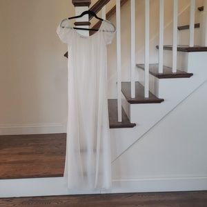 NWOT White Sheer Maxi Dress